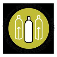 Produtos Aveda com embalagens feitas de material 100% reciclavel